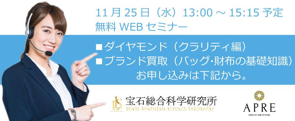 無料WEBセミナー(2020年11月25日開催) お申し込みフォーム
